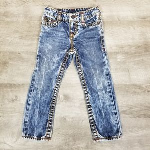 True religion Geno super T acid wash jeans 4t